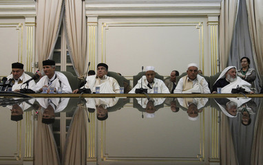 Libyan tribes holds a meeting at the capital Tripoli