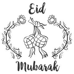 Greeting card for Eid Mubarak