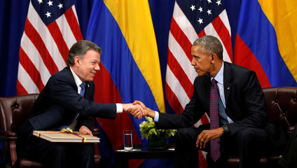 Obama meets with Colombian President Santos in New York