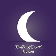 Ramadan Kareem illustration with crescent