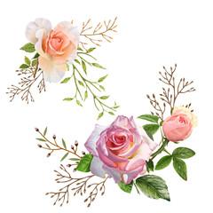 illustration of animal and flower on white background