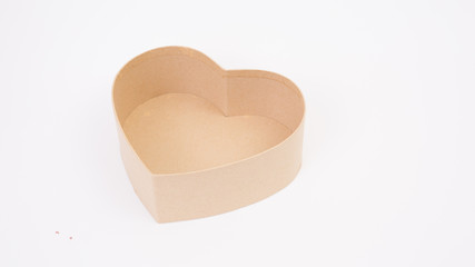 Brown heart shape paper box