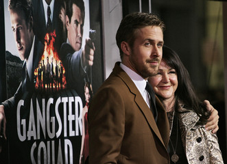 """Canadian actor Gosling and his mother arrive at Warner Bros. Pictures' """"Gangster Squad"""" premiere in Hollywood"""