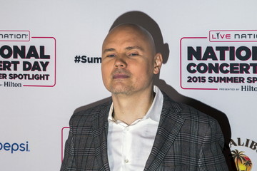 Singer Billy Corgan of the Smashing Pumpkins arrives for Live Nation's National Concert Day in New York