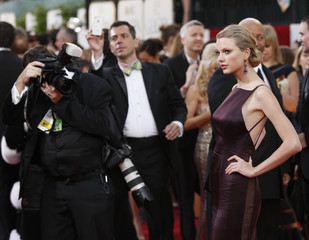 Singer Taylor Swift arrives at the 70th annual Golden Globe Awards in Beverly Hills