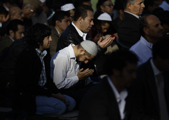 Muslims attend Friday prayers on the first day of Eid-al-Adha in Mexico City