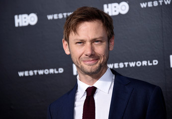 """Cast member Jimmi Simpson attends the premiere of """"Westworld"""" in Hollywood, California"""