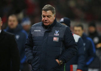 Crystal Palace manager Sam Allardyce looks dejected after the game