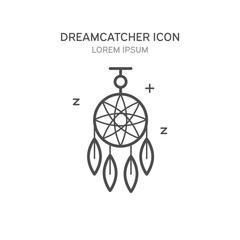 Dreamcatcher line style icon. Vector illustration