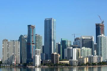 Close up of the Miami skyline