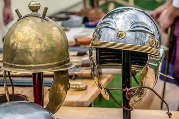 Roman fighting helmets