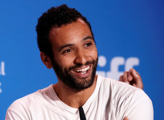 Actor Marwan Kenzari attends a press conference to promote the film The Promise at TIFF