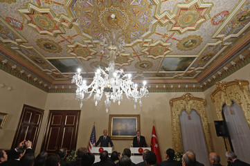 U.S. VP Biden and Turkey's President Erdogan hold a joint news conference in Istanbul