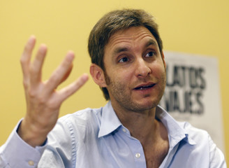 Argentine film director and writer Damian Szifron speaks during an interview in Buenos Aires