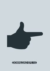 Index finger icon, Vector