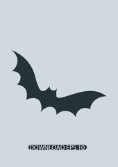 Bat icon, Vector