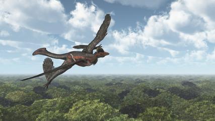 Dinosaurier Microraptor