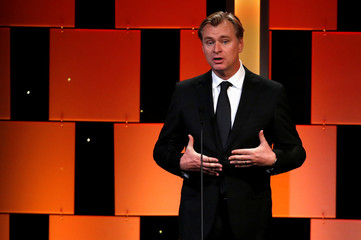 Director Nolan speaks at the 30th annual American Cinematheque Award ceremony in Beverly Hills
