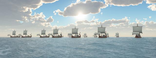 Antike römische Kriegsschiffe