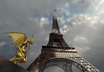 Gargoyle und Eiffelturm