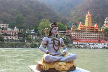 Hindu God Shiva sitting in meditation.