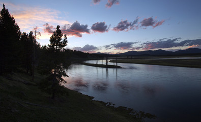 File photo of the Yellowstone River winding through the Hayden Valley in Yellowstone National Park, Wyoming