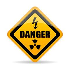 Danger warning vector sign