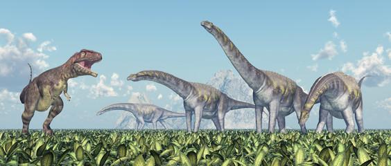Mapusaurus und Argentinosaurus