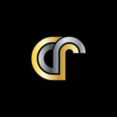 Initial Letter CR Linked Design Logo