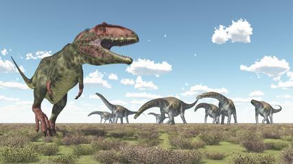 Giganotosaurus und Argentinosaurus