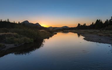 Yosemite during sunset