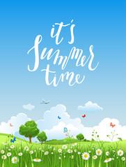 Summer morning illustration