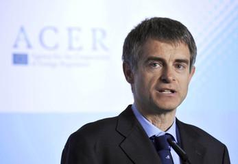 ACER's director Pototschnig speaks during its launch in Ljubljana