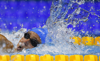 Carlin of Britain swims to win the women's 400 metres freestyle final at the European Swimming Championships in Berlin