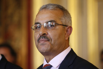 Samir Cheffi, Deputy Secretary of the Tunisian General Labour Union (UGTT) and member of Tunisia's National Dialogue Quartet, who won the Nobel Peace Prize, attend a meeting at the French Foreign Ministry in Paris