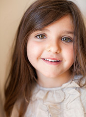 Young girl smiling, portrait