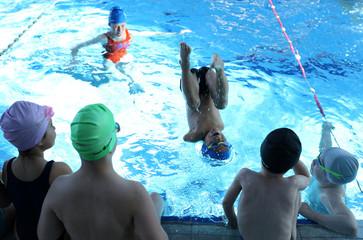 Ismail Zulfic, 6-year old armless swimmer swims in Olympic Pool Otoka in Sarajevo