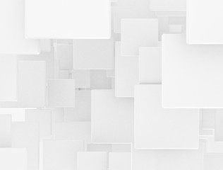 Overlapping white squares design background