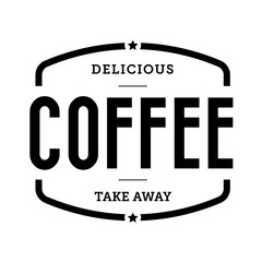 Coffee vintage stamp sign