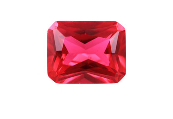ruby mineral isolated