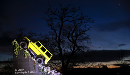 The Mercedes G-Class G 500 4x4 off-road car is seen ahead of the 85th International Motor Show in Geneva