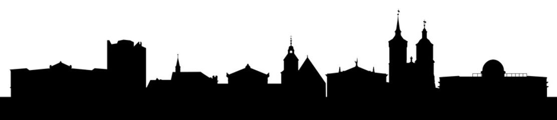 Skyline Göttingen mit Universität, Rathaus und vielen Sehenswürdigkeiten der Stadt.