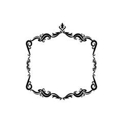 decorative frame floral border cute image vector illustration
