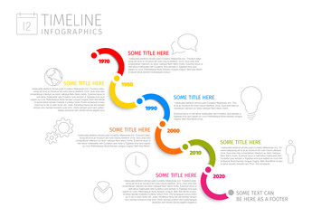 Wavy Diagonal Timeline Infographic