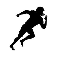 american football player uniform helmet silhouette vector illustration