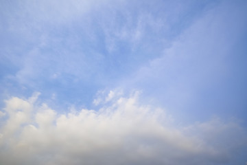 blue of sky with clouds in the morning,Background