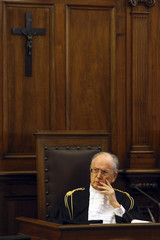President of the Vatican City State court Dalla Torre attends the opening of the Judicial Year of the Tribunal of Vatican City at the Vatican