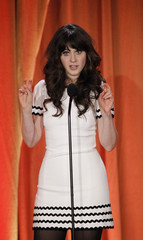 Deschanel speaks at the inaugural Critics' Choice Television Awards in Beverly Hills
