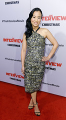 """Cast member Diana Bang poseS during premiere of the film """"The Interview"""" in Los Angeles"""
