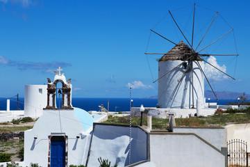 Old wind mill on Santorini, Greece